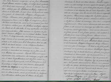 Mariage entre Charles BERTOUT et Marguerite MAZIER (Suite)