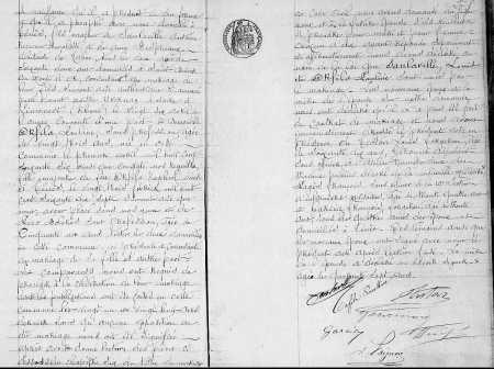 Mariage de Louis SANLAVILLE avec  Pauline ORFILA  suite