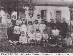 FLATTERS l'Ecole Communale 1929 / 1930