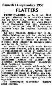 FLATTERS - 14 Septembre 1957