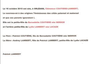 Photo-titre pour cet album: Familles LACAZE-LAMBERT-SEROR