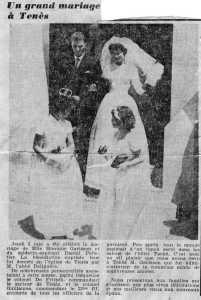 L'Echo d'Alger 2 Juin 1960 ---- Mariage de Micou GARRISSON  avec Daniel PELLETIER