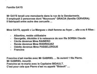 Famille GAYS