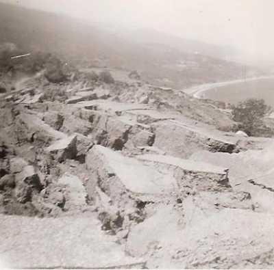 le glissement de terrain route de Pointe Rouge