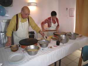 La chandeleur - 2009 Norbert GOELZER (fils) et une amie