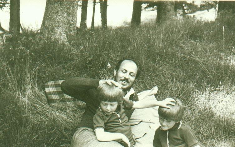 NORMANDIE - 1968 ---- Norbert GOELZER (Fils) et ses 2 enfants: Franck GOELZER Carl GOELZER