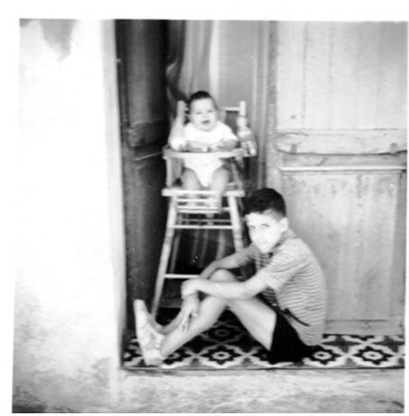 Roland GUERIN  et sa soeur Claudette BANON