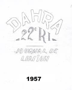 Photo-titre pour cet album: Journal de Marche  du 22ème RI - 1957