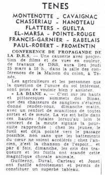 """MARS 1954 ---- """"Octave GUILLEMY, Alexandre DUVAL,  Paul CARTEAUX et Basile JONET  ont permis de constituer un superbe tableau de chasse ..."""""""