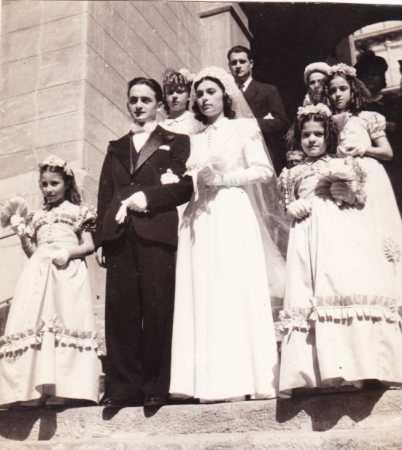 BAB EL OUED - 19 Octobre 1946 Paroisse St Joseph Mariage de Sylvette ? et Martial ?