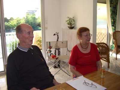 """Gilbert et Colette SALA ---- 34-MONTPELLIER ----   FAMILLE SALA  ----  """"93 ans .... je fatigue vite ... impossible de venir"""""""