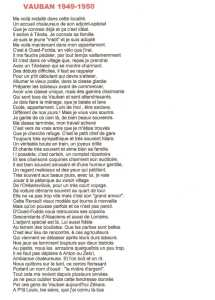 """VAUBAN 1949-1950"" --- Lucien LUBRANO"
