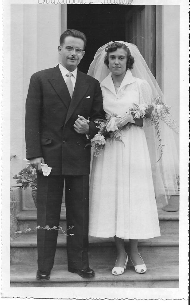 1954 - mariage de  Christian LLINARES  et Paulette MAGRO