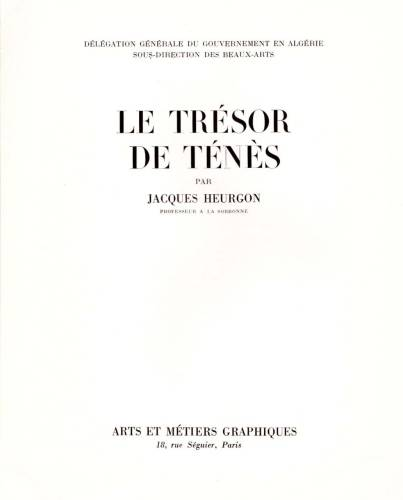 Photo-titre pour cet album: Le LIVRE sur le TRESOR de TENES