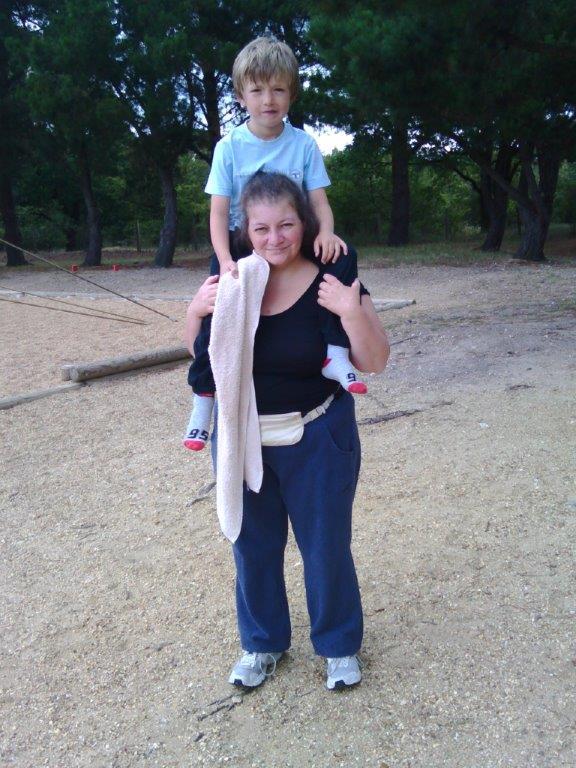Une de mes 3 filles, Elisabeth et un de mes 6 petits enfants Daniel MANSION