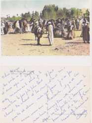 Carte de Claude Dalibon  parti enseigner au Sahara