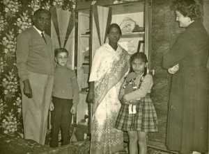 Famille MARIANI ---- M'Dou MARIANI Daniel WERY Mme MARIANI la fille Rosette WERY