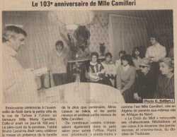 TOULOUSE 1993 ---- Les 103 ans de Marie CAMILLERI