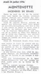 MONTENOTTE - 26 Juillet 1956