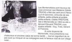 Odette TRUCHI ---- Centenaire en 2004