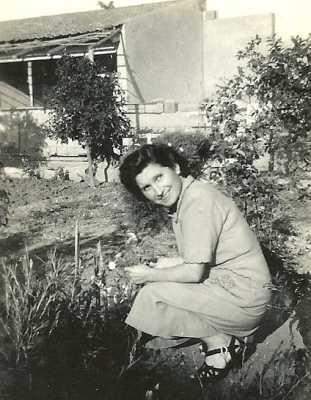 1950 Laurence NOBLES  dans sa maison du GUELTA