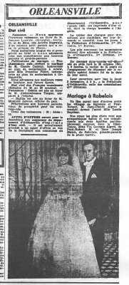 l'Echo d'Alger du 1er Novembre 1961 ORLEANSVILLE - RABELAIS