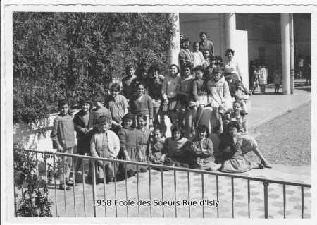 1958 - Ecole des Soeurs rue d'Isly