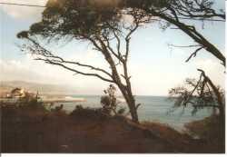 vue sur la mer au dessus de la Plage Anglaise