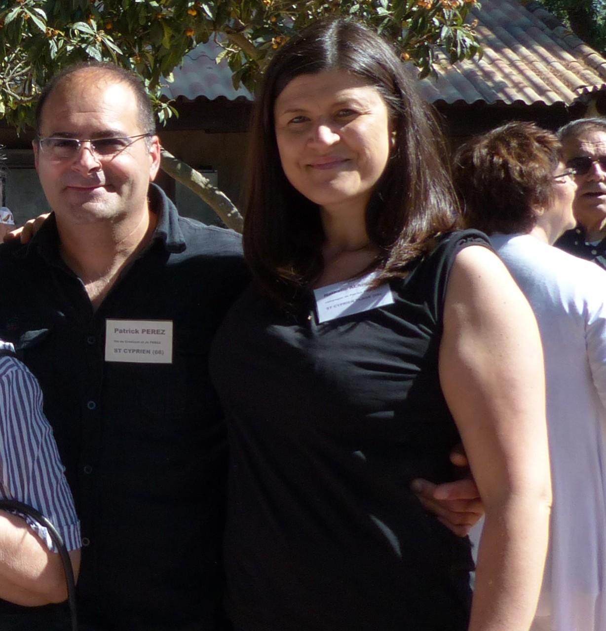 Patrick PEREZ  (fils de Crescent et Jo PEREZ) & Nathalie ALARCON (sa compagne)