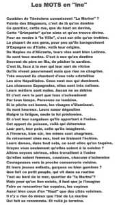 "Les Mots en ""ine"" ---- Lucien LUBRANO"