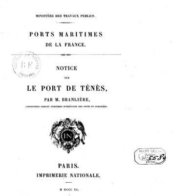 Photo-titre pour cet album: Construction du Port de TENES