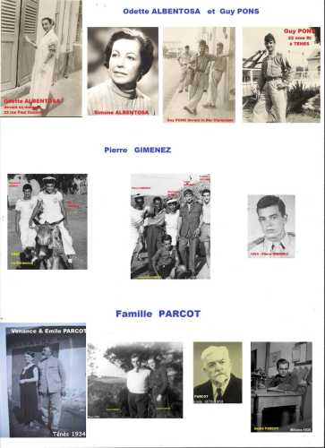 Familles ---- ALBENTOSA  GIMENEZ  PARCOT