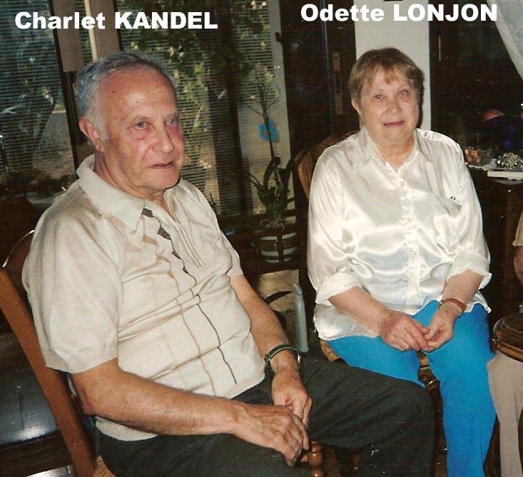 Vauvert le 17-8-2005 ---- Charlet KANDEL et Odette LONJON