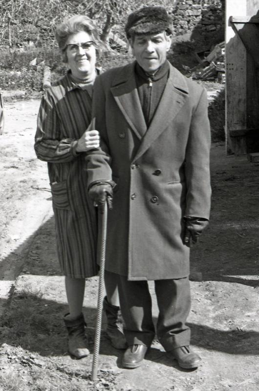Alexis ROS et Madeleine DELBANO en 1970 en CORSE