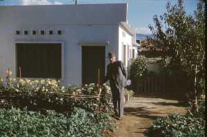 Jean EGRETEAUD dans sa maison de Montenotte