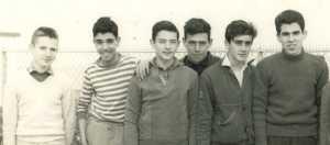 TENES 1961 - CCET ---- Claude PERICAT DAHMANE GLAUDEL Roger RUSO Sauveur Georges ESPOSITO CERVERA Alain  X