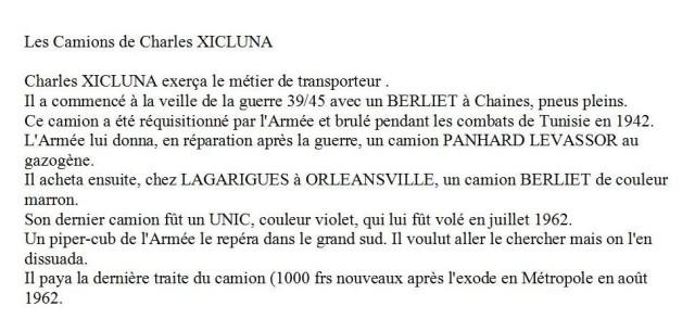 les Camions de Charles XICLUNA