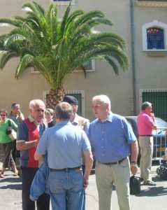 Jacques ROMEO Jean Pierre SINTES (de dos) Lucien LUBRANO