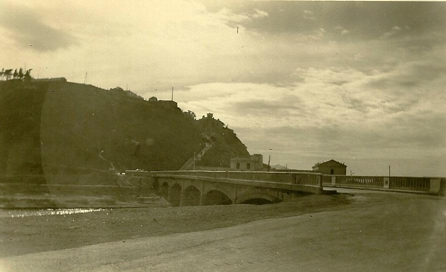 le pont sur l'Oued Allalah la grimpette au fond