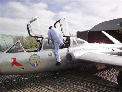 Octobre 2010 --- Le vol sur Fouga pour les 60 ans de Daniel WERY