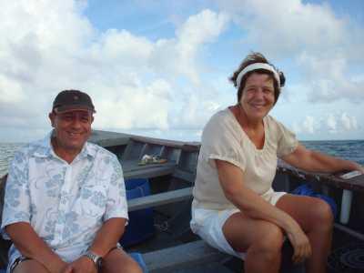 Mars 2009 Ile Maurice ---- Daniel et Angela WERY en route pour le Coin de Mire