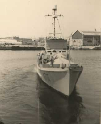 "Le P618 ""Fantassin""  au port de TENES"