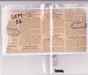 TENES - Septembre 1956 l'attentat contre Henri XICLUNA