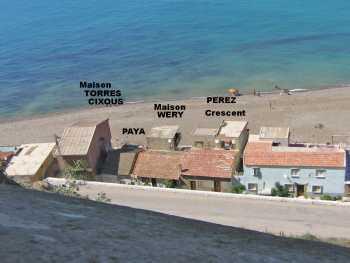 La Marine - 2010 ---- vue des Remparts ---- Maisons : Hubert CIXOUS Jacques TORRES Jean PAYA Famille WERY PEREZ Crescent