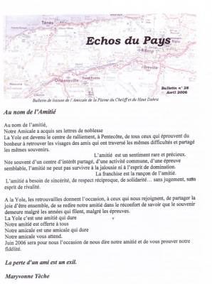 Photo-titre pour cet album: L'ECHO du PAYS  Avril 2006