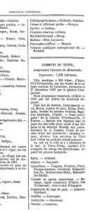 Indicateur Commercial 1873 sur TENES