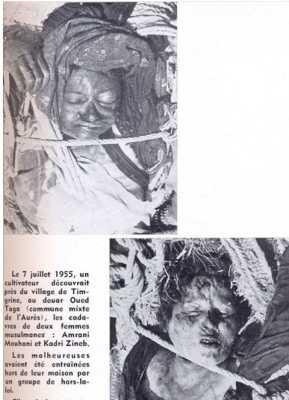 7 Juillet 1955 ---- Massacre FLN au village de TIMGRINE, douar Oued Togo