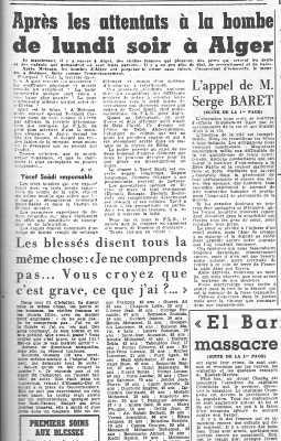 ALGER 3 Juin 1957