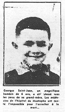 ALGER 3 Juin 1957 ---- Georges SAINT-JEAN 6 ans