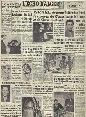 5 Mars 1957 ---- AFLOU : 50 HLL abattus